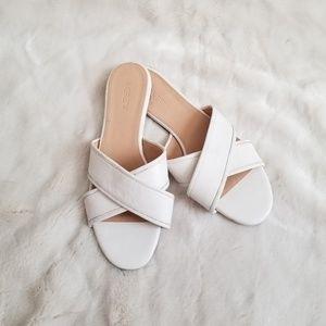 J. Crew Cora Crisscross Sandals in White sz 9